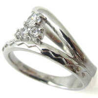 【送料無料】ピンキーリング・ダイヤモンド・リング・一粒・K10・指輪【_包装】【RCP】