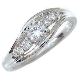 婚約指輪・一粒・鑑定書付き・ダイヤモンド・リング・エンゲージリング・SIクラス・18金・指輪・0.3ct・4月誕生石・0.3カラット