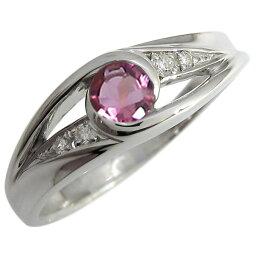 ピンクトルマリン エンゲージリング 婚約指輪 10月誕生石 一粒 10金