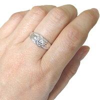 【送料無料】婚約指輪・一粒・ダイヤモンド・リング・エンゲージリング・18金【_名入れ】【RCP】
