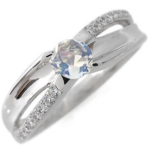 【10%OFF】11日1:59迄 プラチナ エンゲージリング 婚約指輪 一粒 ロイヤルブルームーンストーン 6月誕生石