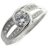【送料無料】エンゲージリング・大粒・リング・ダイヤモンド・0.5カラット・婚約指輪・指輪・4月誕生石・18金・リング【_名入れ】【RCP】