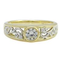 【送料無料】コンビ・エンゲージリング・ダイヤモンド・リング・婚約指輪・0.5ct・18金【_名入れ】【RCP】
