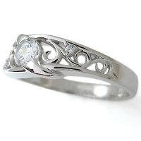 【送料無料】ダイヤモンド・婚約指輪・4月誕生石・一粒・エンゲージリング・10金【_名入れ】【RCP】