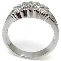 【送料無料】バタフライ・メンズリング・クロス・18金・ダイヤモンド・指輪【_名入れ】【RCP】