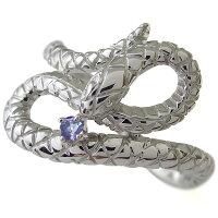 【送料無料】スネーク・メンズリング・ヘビ・蛇・指輪・タンザナイト・金【_包装】【RCP】