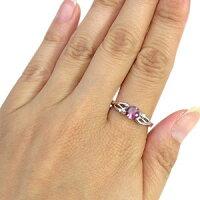 【送料無料】ピンクトルマリンリング10月誕生石18金大粒ピンクトルマリン指輪【_名入れ】【RCP】