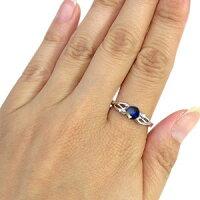 【送料無料】サファイアリング9月誕生石18金大粒サファイア指輪【_名入れ】【RCP】