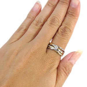 【10%OFF】11日1:59迄 コンビ リング エンゲージリング 一粒 ダイヤモンド 婚約指輪 ダイヤモンドリング