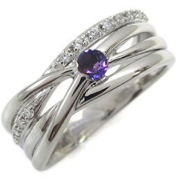 アメジスト エンゲージリング 2月誕生石 一粒 10金 婚約指輪