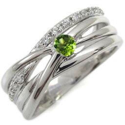 ペリドット エンゲージリング 8月誕生石 一粒 10金 婚約指輪