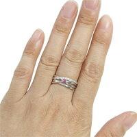 【送料無料】ピンクサファイア指輪18金一粒ピンクサファイアリング【_名入れ】【RCP】