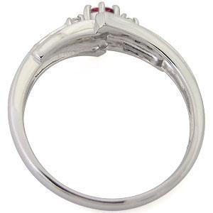 ルビー 婚約指輪 一粒 エンゲージリング 7月誕生石 18金