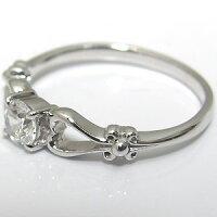 【送料無料】K18・ダイヤモンド・エンゲージリング・一粒・婚約指輪・ハート【_名入れ】【RCP】10P10Feb14