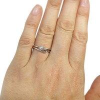 【マラソン201404_送料無料】ダイヤモンドエンゲージリングダイヤモンドシンプルエレガント婚約指輪K18【_名入れ】【RCP】10P05Apr14M
