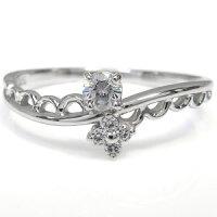 【送料無料】一粒ダイヤモンド指輪ダイヤモンドリングK18ピンキーリング【_名入れ】【RCP】10P05Apr14M