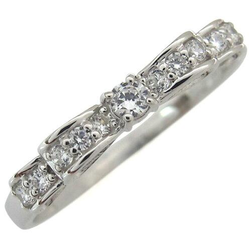 リボン ダイヤモンドリング 誕生石 指輪 18金 ダイヤモンド リング ダイヤ ピンキーリ...