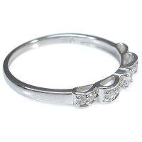 プラチナダイヤモンドリング指輪誕生石ダイヤモンドレディースリボンリングクリスマス
