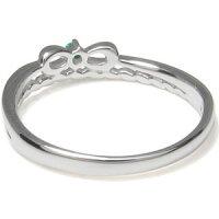 【送料無料】エメラルド・リボン・指輪・K10・ピンキーリング【_名入れ】【RCP】10P06May14