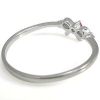 【送料無料】リボンリング・ルビー・誕生石・ピンキーリング・指輪【_包装】【RCP】10P01Nov14