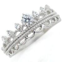 【送料無料】エンゲージリングダイヤモンドリング18金ティアラ婚約指輪【RCP】10P04Jul15