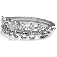 【送料無料】エンゲージリングダイヤモンドリング18金ティアラ婚約指輪【_名入れ】【RCP】10P12Sep14
