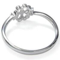 【送料無料】アクアマリンサンタマリアクローバー指輪18金リングピンキーリング【_包装】【RCP】10P01Nov14