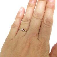 【送料無料】ルビーピンキーリング18金指輪天然石リング【_包装】【RCP】10P12Sep14