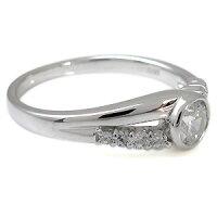 【送料無料】エンゲージリング婚約指輪プラチナ指輪鑑定書付きダイヤモンドリングSIクラス一粒リング0.5ct【_名入れ】【RCP】10P01Nov14