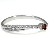 【送料無料】ガーネットファランジリング18金指輪ピンキーリング【_包装】【RCP】10P01Nov14