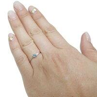 【送料無料】プラチナ一粒アクアマリンサンタマリアリングプレゼントリング指輪【RCP】10P04Jul15