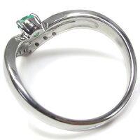 【送料無料】指輪エメラルドリングV字リングK18リング【RCP】10P04Jul15
