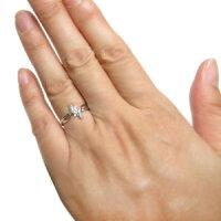 【送料無料】プラチナ・リング・ダイヤモンド・リング・クロス・リング・指輪【RCP】10P07Nov15【BOX受取対象商品】