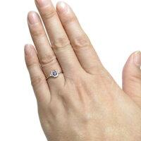 【ポイント10倍】【送料無料】プラチナホースシューリングタンザナイト馬蹄指輪【RCP】10P07Feb16