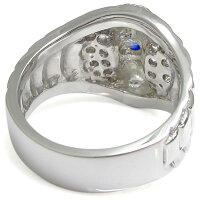 【送料無料】蛇モチーフリングスネークメンズ蛇リングプラチナサファイア指輪【RCP】532P19Mar16