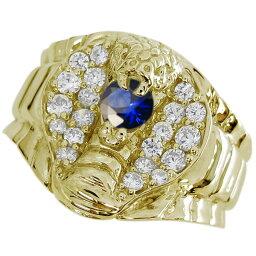 スネーク リング コブラ メンズ サファイアリング 10金 蛇 指輪