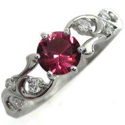アラベスク エンゲージリング ルビー 婚約指輪 プラチナ リング