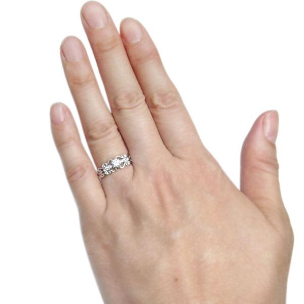プラチナ ダイヤモンド リング アンティーク ハート リング 指輪