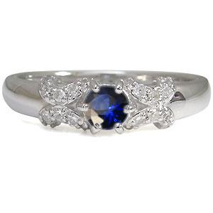 【10%OFF】11日1:59迄 プラチナ サファイア 婚約指輪 一粒 エンゲージリング サファイア リング