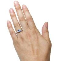 【送料無料】アラベスクタンザナイトリング唐草K18爪なし指輪【RCP】P06May16