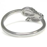【送料無料】プラチナファランジリングアクアマリンサンタマリアヘビ指輪ピンキー【RCP】10P06Aug16