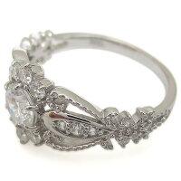 【送料無料】プラチナ婚約指輪大粒ダイヤモンドエンゲージミル打ちリング【RCP】10P06Aug16