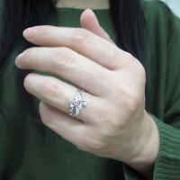 【送料無料】ピンクサファイアリング結婚記念日唐草指輪トライバルリング10金【RCP】10P06Aug16