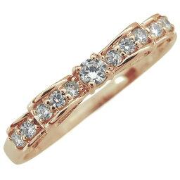 リボン エンゲージリング ダイヤモンド 婚約指輪