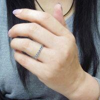 【送料無料】プラチナハーフエタニティリングアクアマリンサンタマリア重ねづけ指輪【RCP】10P06Aug16