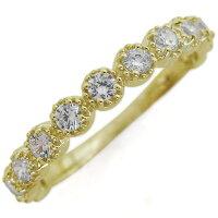 【送料無料】ハーフエタニティリングダイヤモンド婚約指輪エンゲージリングK10【RCP】10P06Aug16