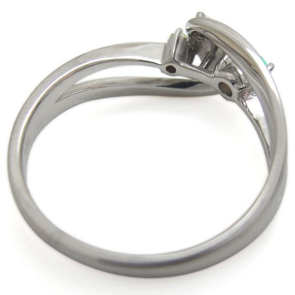 エメラルドリング プラチナリング インフィニティ 無限 指輪
