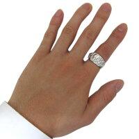 【送料無料】プラチナ十字架指輪ガーネットクロスリング髑髏リング【RCP】10P06Aug16