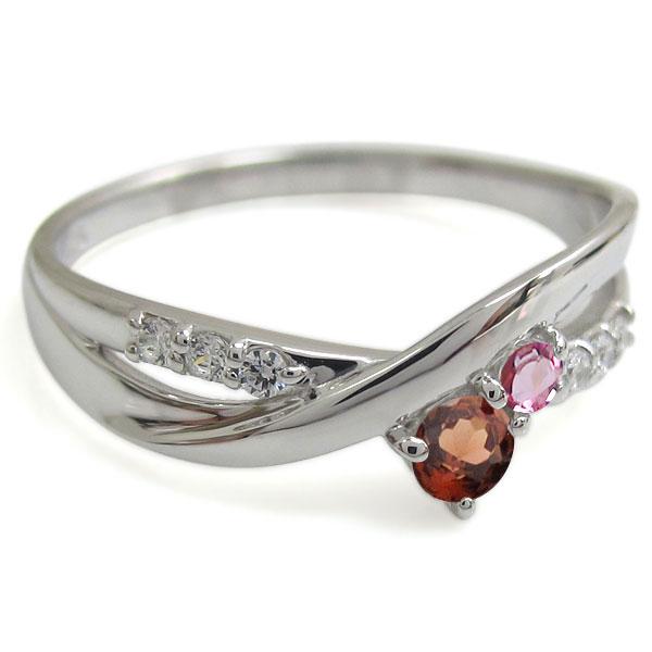 指輪 レディース おしゃれ ガーネット プラチナ エンゲージリング シンプル 婚約指輪 レディース
