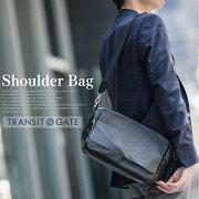 ショルダーバッグ ブランド TransitGate メッセンジャー ビジネス ブラック